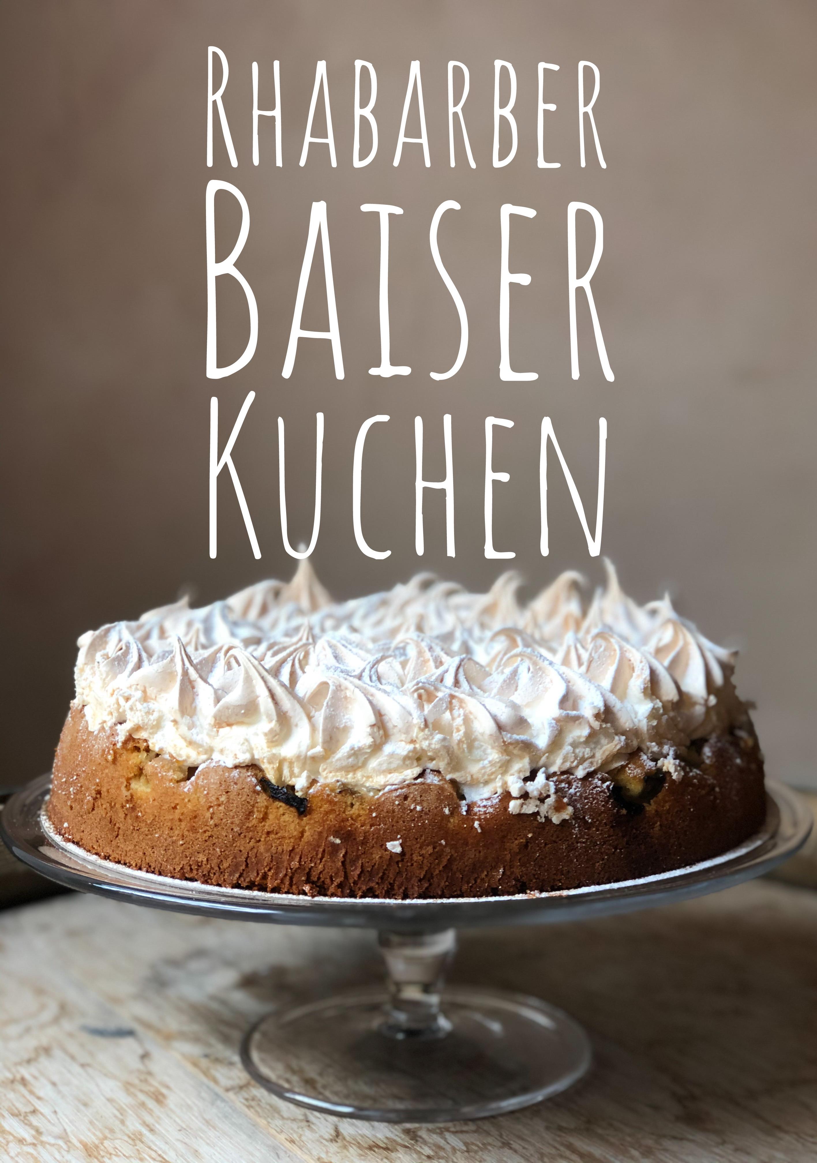 19. Rhabarber Baiser Kuchen